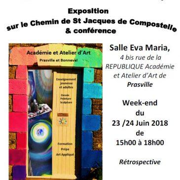 Exposition de juin 2018 à l'atelier de Prasville