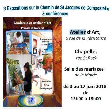 Exposition de juin 2018 à l'atelier de Bonneval